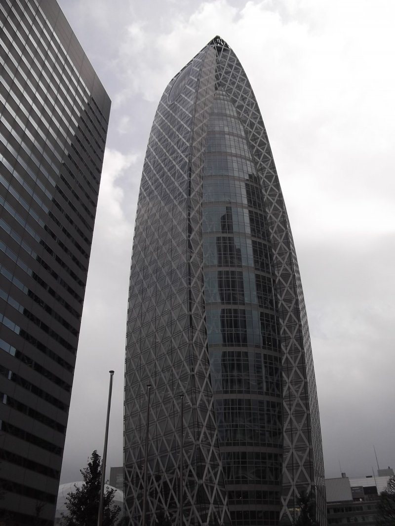 It stands out from the other buildings around it