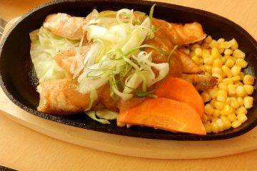 Salmon with miso sauce