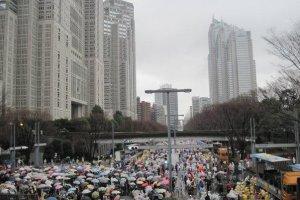 The starting line in Shinjuku