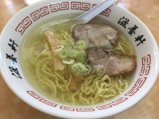 Hakodate shio ramen, simple yet delicious
