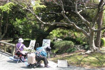 Пленэр в парке Синдзюку гёэн