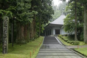 Di luar Kuil Chusonji - Hiraizumi