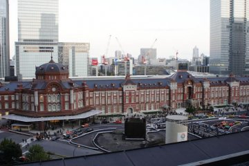 Tokyo Station on a cloudy day