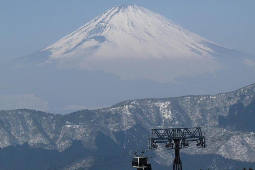 Fuji. Above the clouds.