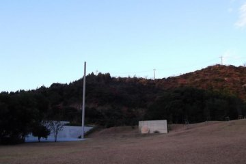 <p>The museum is built into the landscape, becoming part of the scenery</p>