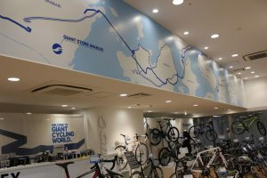 The Giant Store Imabari is focused on the Shimanami Kaido cycling route