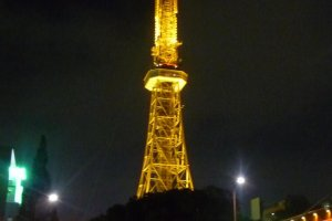 Lit up at night, Nagoya's TV Tower is a much loved landmark