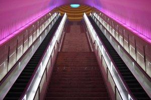 Get ready to climb a lot of escalators at MOA