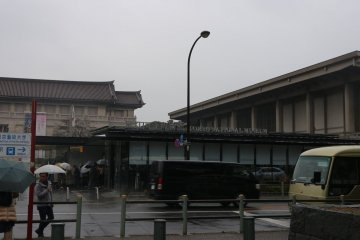 Outside the Tokyo National Museum in Ueno