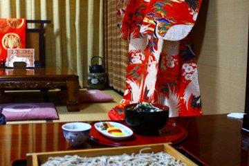 A kimono adds a nice touch.