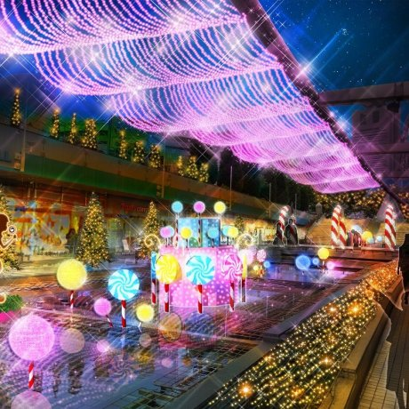 Tokyo Dome City Winter Lights Garden