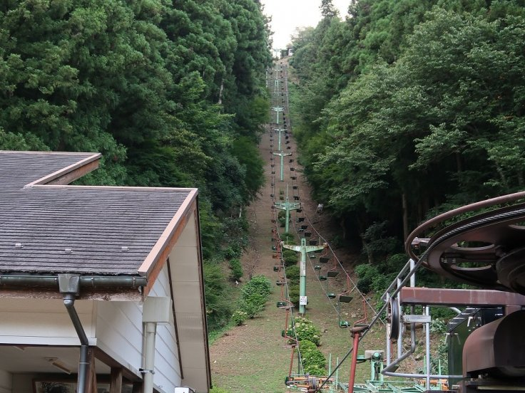 Chair lift to Tsuwano Castle Ruins