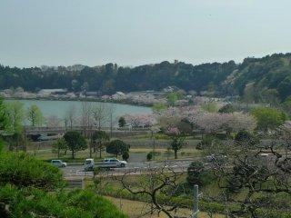 View of Lake Senba from the garden