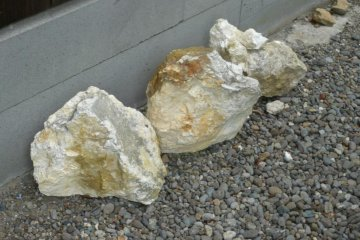 Raw materials quarried locally