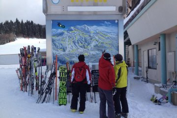 Zao is Yamagata's largest resort, with 34 lifts, and runs suitable for both beginners and advanced skiers / snowboarders.
