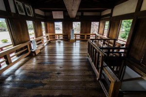 The moon viewing room is one of Matsumoto Castle's unique features - only one other castle in Japan has one of these!