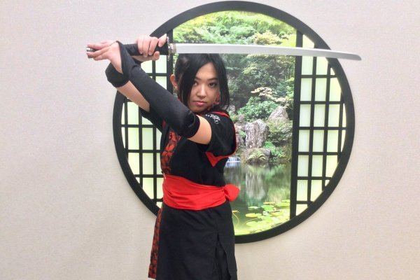 Master Sayaka Oguri, who has trained in martial arts since she was 2 years old