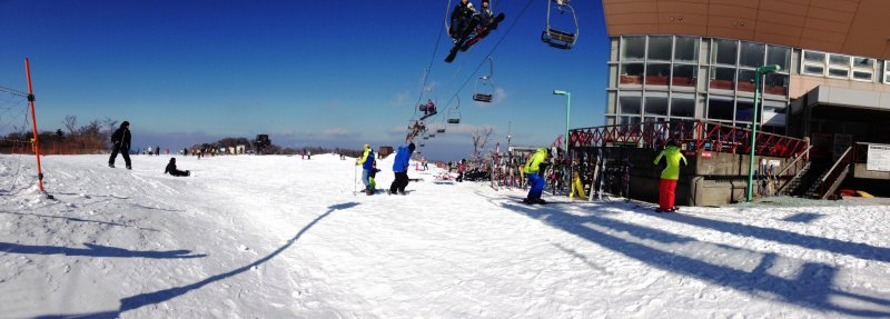 The ski lifts are uncrowded at Gokase