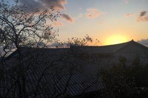 Sunset from Goshiki Onsen