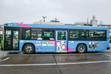 El proyecto de colaboración: el autobús del Captain Tsubasa
