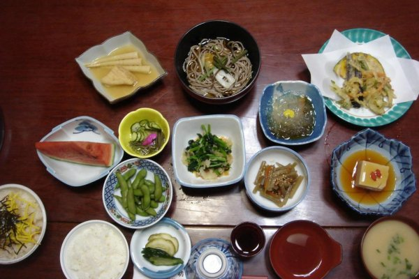 La cena en el shukubo