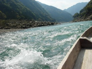 Kumano River is said to be one of Japan's three rivers with the fastest currents
