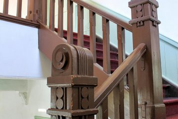 The banisters are a sight to behold too