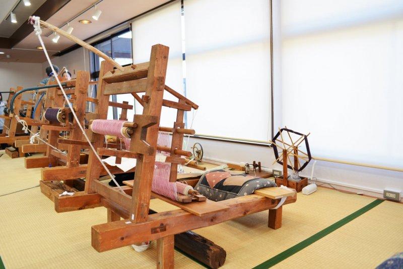 Le matériel de tissage à Yuki, Ibaraki