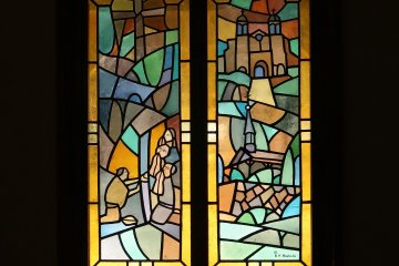 Stained glass windows of the chapel