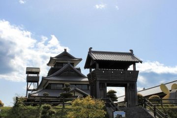 Besides the castle tower, there's a gate and a lookout (which you can't climb unfortunately)