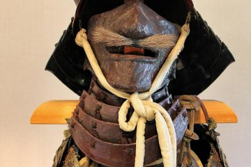 The armour on display has an aspect of caricature