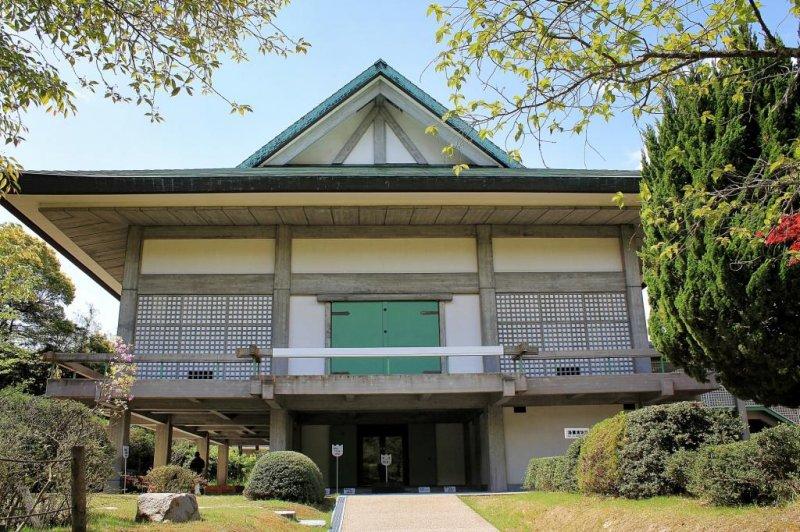 The Oyamazumi Shrine Treasure Hall from outside
