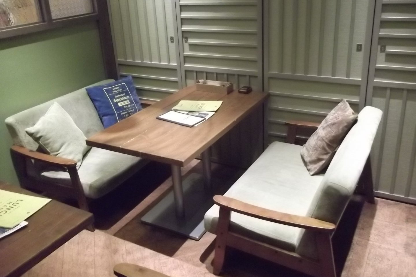 A cosy, comfortable booth