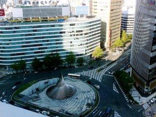 """منظردوران في الطريق من رواق السماء """"ميكي"""" أعلى برج ناجويا"""