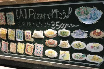 Delightfully decorated menus