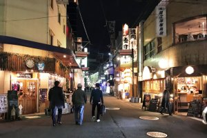 The pedestrian friendly side streets of Nipponbashi