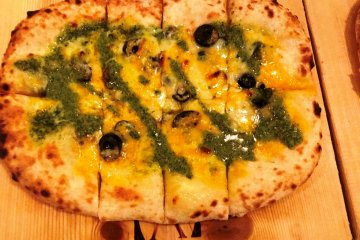 Anchovy olive's basil