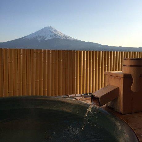 Nhà trọ suối nước nóng và núi Phú Sĩ