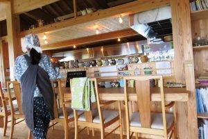 Counter seating at Cafe Koku
