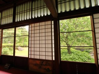 Large windows offer great views into the garden