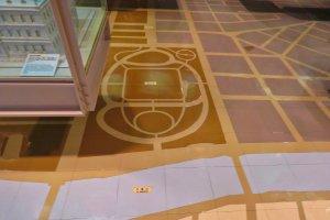 Floor of Yokohama Archives Exhibit Area