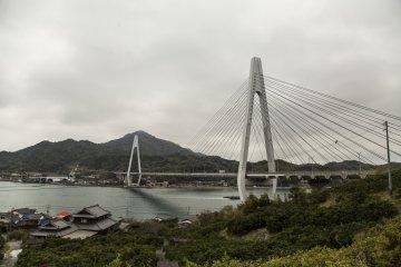 Cycling towards Ikuchi Bridge