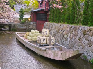 Takasegawa Ichino Funairi (Last remaining of the former nine small ports in the Takasegawa Canal)