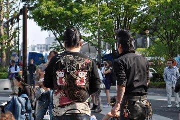เหล่านักเต้นร็อกอะบิลลี ที่สวนโยะโยะกิ