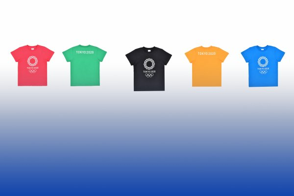 Color t-shirts with official Tokyo2020 logo