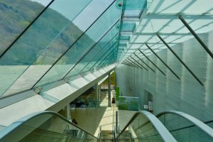 Glass covered ceiling
