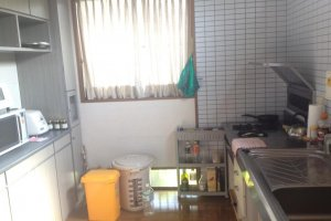 A well-equipped kitchen is available for use.