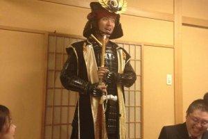 Tokugawa Ieyasu attends a function. He speaks quirte good English too!