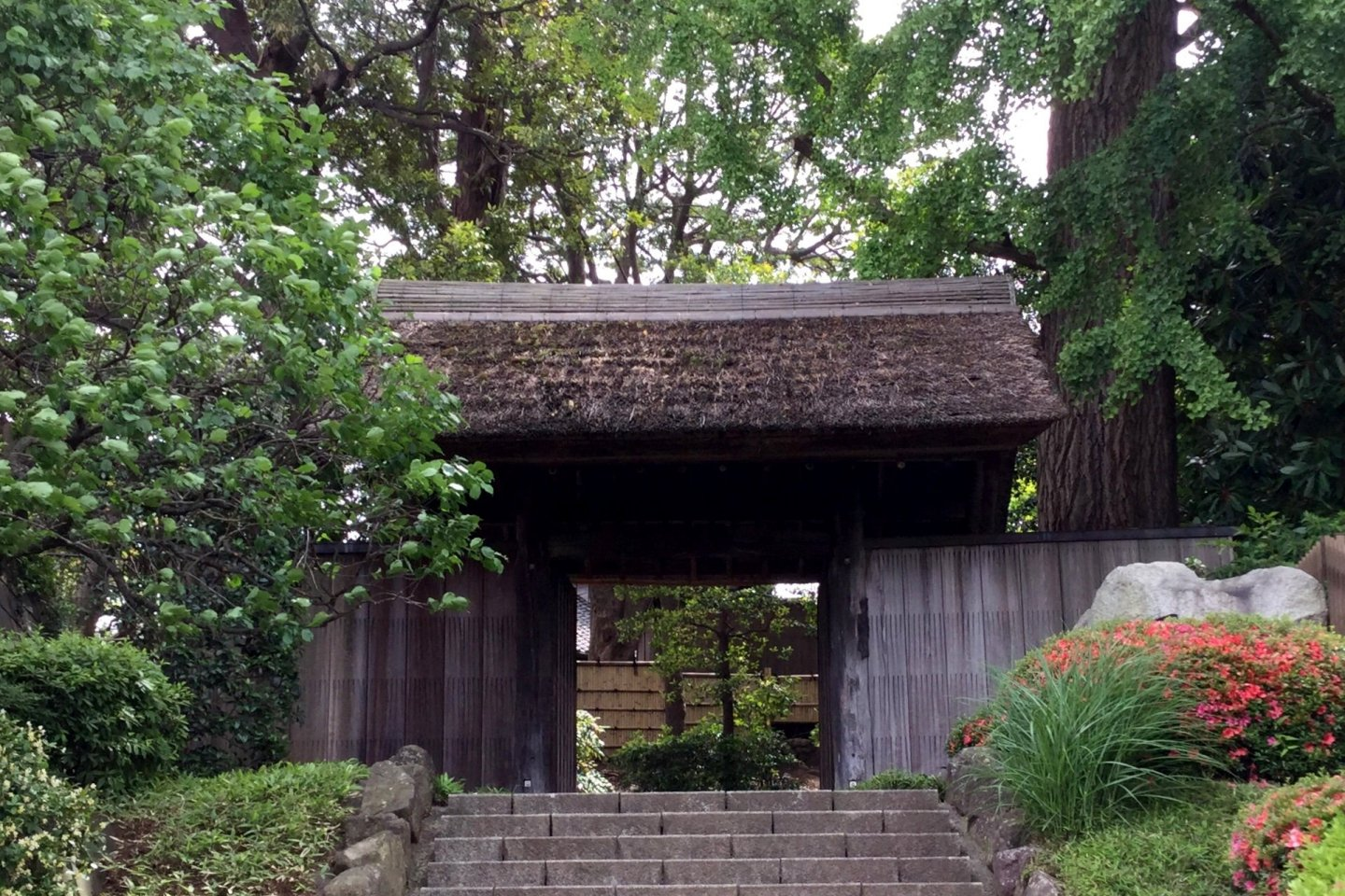 The gate to the house and garden on a slope above Matsudo City