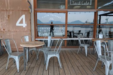 The outdoor area at Yard Cafe - the perfect spot to take in some great views!